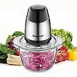 Homeleader Zerkleinerer 350W, multizerkleinerer elektrisch mit 4 Edelstahlmesser, 1.2L Lebensmittelqualität Glasbehälter BPA Frei, Multizerkleinerer für Obst, Gemüse, Zwiebeln