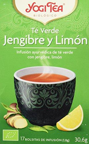 Yogi Tea Verde Jengibre Limón - Paquete de 6 x 17 Sobres...
