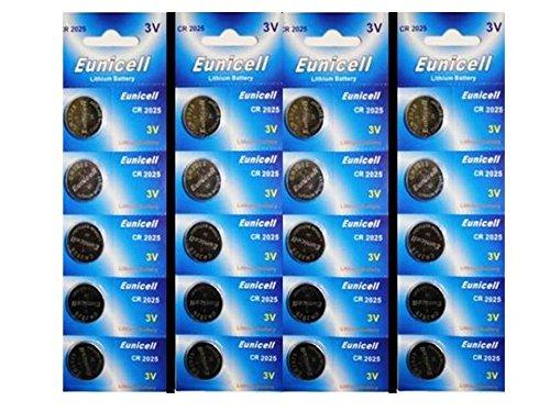 20 x br2025 CR2025 DL2025 kcr2025 Piles bouton au lithium pour Samsung Lunettes 3D