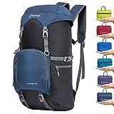 ZOMAKE 40L Sac à Dos léger Voyage Packable - Grand Pliable randonnée Daypack résistant à l'eau ((Bijoux Bleu)