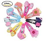 #9: 6 Pairs Baby Plastic Multi Color & Fancy Design TIK Tak Hair Pins (Random Design)