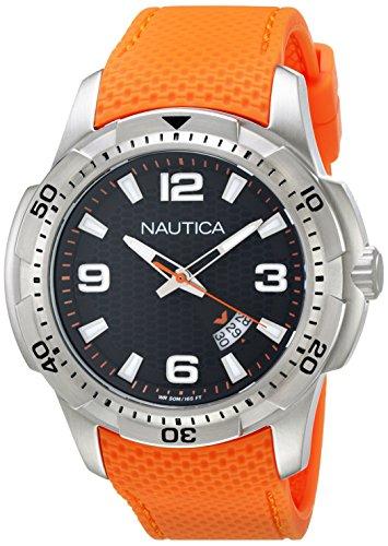 nautica-nai12519g-montre-homme-quartz-analogique-cadran-noir-bracelet-silicone-orange
