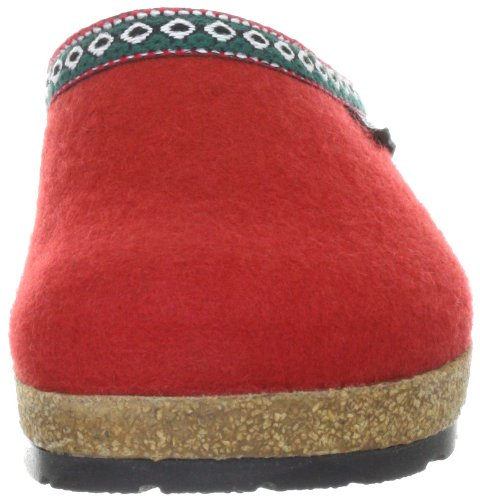 Haflinger Franzl 711001, Pantofole donna Rosso (Rot (Rot 211))