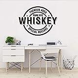 Decalcomania della parete In Vinile Artista Home Decor Adesivo Bar Alcol Ristorante Whisky Tequila Decorazione Demolizione Poster Murale 42x56cm