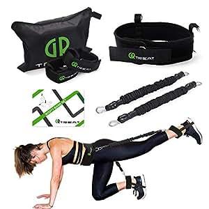 Ceinture de Butin Bande de Résistance Fitness, Elastique Musculation Sangle de Yoga Elastique, Équipement d'Exercices pour Musculation Pilates Squat Sport, Entrainement Corps, Jambes (Black (35LB))