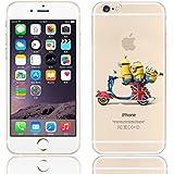 New Disney trasparente Cartoons Minnions and others trasparente in poliuretano termoplastico per iPhone-Cover per Apple iPhone 5, 5S, 5C, 6/6S, 7 plastica, (iphone 7 /iphone 8, Minions on Ride)