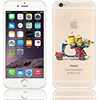New Disney trasparente Cartoons character Minnions and others trasparente in poliuretano termoplastico per iPhone-Cover per Apple iPhone 5, 5S, 5C, 6/6S, 7 plastica, (iphone 7 /iphone 8, Minions on Ride)
