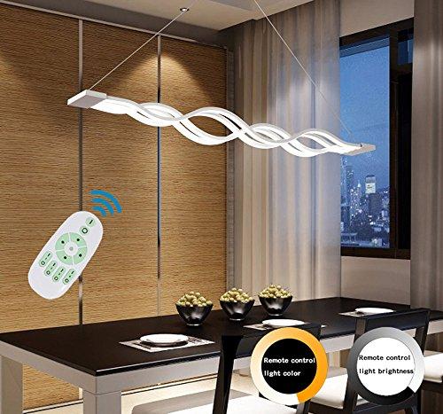 ndelleuchte Deckenleuchter Licht-LED hängende Leuchte für moderne Wohnzimmer Schlafzimmer Esszimmer (Dimmbar mit Fernbedienung 72W)100 * 8 CM [Energieklasse A+] ()