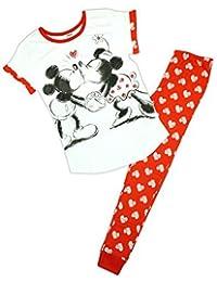 Mujer Disney Minnie & Mickey Mouse Corazones Paquete De Regalo Pijama Tallas Grandes de 8 a 22