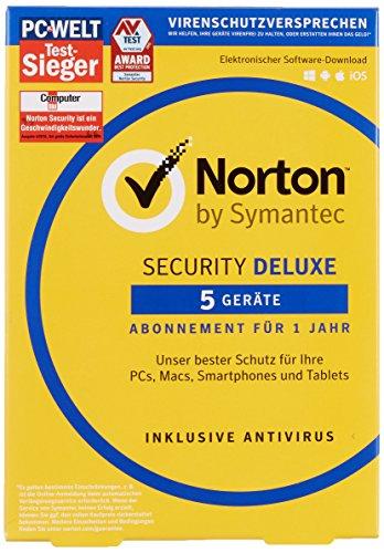 Preisvergleich Produktbild Norton Security Deluxe 2018 / 5 Geräte / 1 Jahr / PC / Mac / iOS / Android / Download