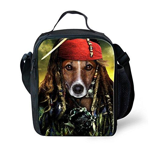 Showudesigns carino stampa animale borsa porta pranzo per bambini con tracolla, color 7, small color 15