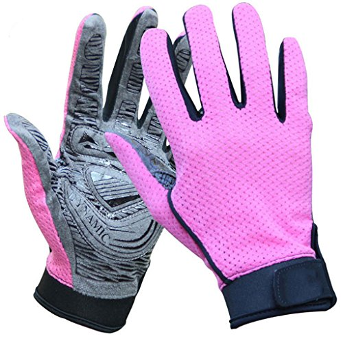 CN Outdoor-Sport Kletterhandschuhe Rutschfeste Handschuhe Sommer Mottensichere Handschuhe Reithandschuhe Unisex,Pink,XL (Xl-antistatik-handschuhe)