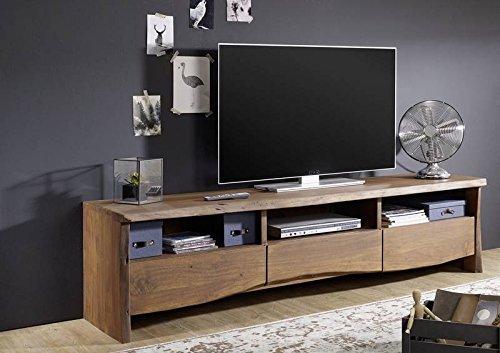 TV-Board Akazie 191x45x50 braun lackiert LIVEEDGE #209