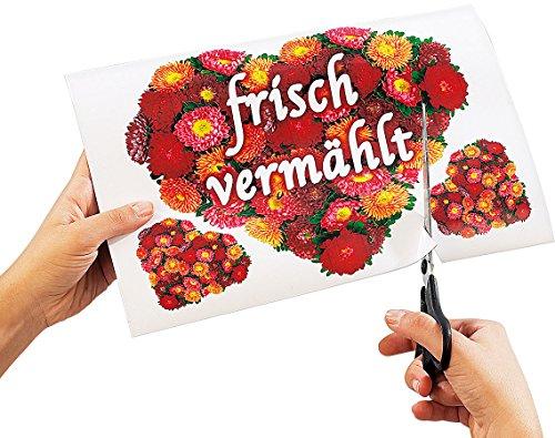 Your Design Fotopapier magnetisch: 16 Inkjet-Magnetfolien wasserfest A4 hochglänzend/weiß (Magnetfolie selbst Bedrucken)
