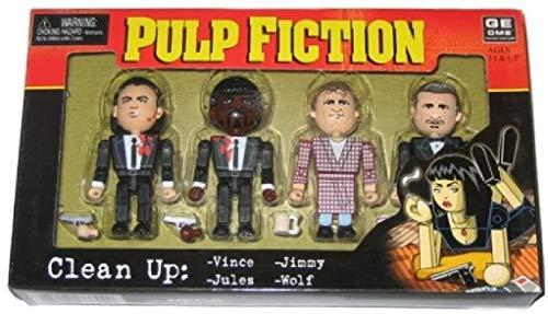 Pulp Fiction Clean-UP 4 Mini-Figuras PVC articuladas ca 7-8cm