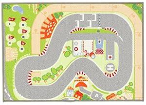Sevi - Alfombra Circuito de Carreras, 93x67 (Trudi 60266)