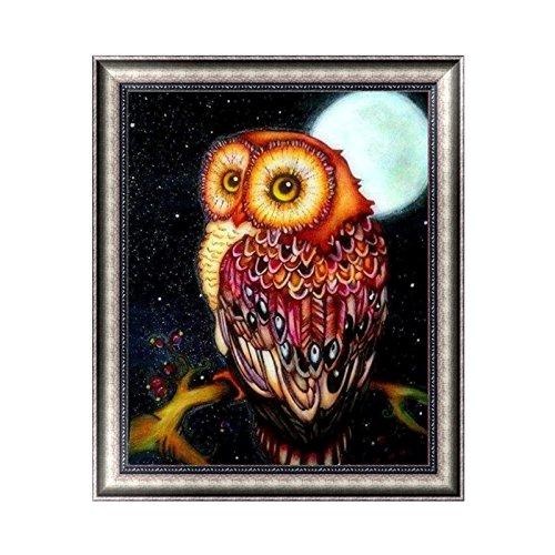 Kofun DIY Night Moon Eule 5D Diamant Stickerei Gemälde DIY Kreuzstich Art Craft Decor