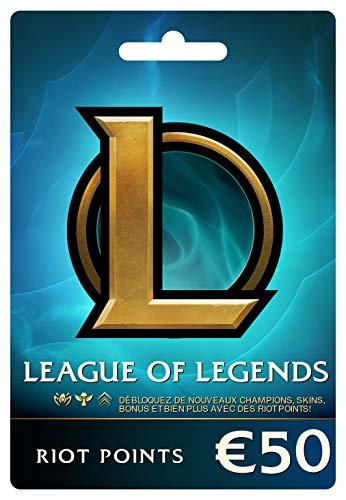 League of Legends €50 Carte-cadeau prépayée (7200 Riot Points)