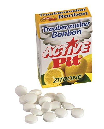 Active Pit Traubenzucker Bonbons Zitrone, 15er Pack (15 x 35 g) (Zitrone Spitze)