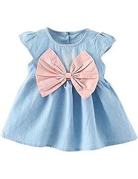 Covermason Bebé Niña Linda Bowknot Decoración Sin Mangas Tutú Vestidos