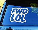 wandaufkleber 3d schlafzimmer Fwd Lol Jdm Car Truck Window Windshield Lettering Decal Sticker