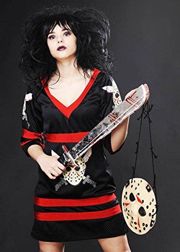 Womens Halloween Fräulein Jason Voorhees Kostüm M (UK (Kostüm Uk Jason Voorhees)