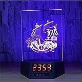 Lh&Fh Segelschiff Nachtlicht 3D Kreative Tasten Ferngesteuerte Kalender LED Tischleuchte