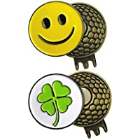 2Sets of Golf Ball Marker Mit Hat clips- verschiedenen, bunt, schöne, stabile