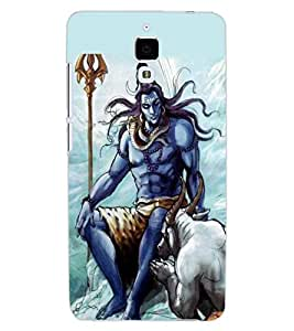 ColourCraft Lord Shiva Design Back Case Cover for XIAOMI MI 4
