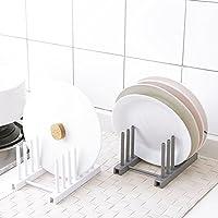 UxradG - Soporte de secado de platos, plástico ABS de alta calidad, multifuncional,