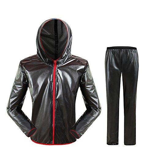 Fahrrad Regenjacke, Fahrrad Regenjacke Regenhose, Wasserdichter Anzug, Outdoor Riding Split Regenjacke (XXL)