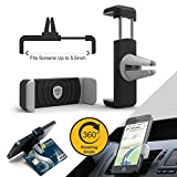 #7: Tukzer Air Vent Universal Car Mount Mobile Holder (Black and Grey)
