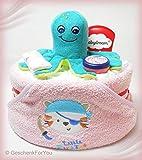 Windeltorte Badespaß Babyparty Taufe Geschenk Kapuzenhandtuch