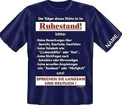 T-Shirt Pension Rente mit Wunschnamen - Der Träger Dieses Shirts ist im Ruhestand. - Jetzt mit dem Namen des Beschenkten !, Größe:XXL