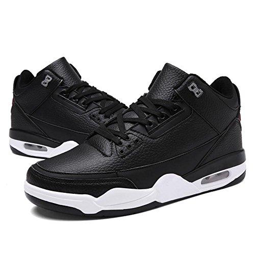 Chaussures De Basket-ball Chaussures De Sport Chaussures De Course Chaussures Pour Hommes Respirant Absorbant Les Chocs Sports De Plein Air Vêtements Antidérapants Noir