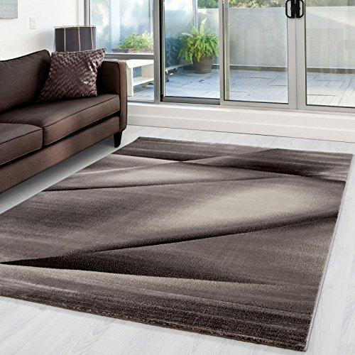 Preisvergleich Produktbild Moderner Designer Teppich Miami 6590 Braun - 80x150 cm