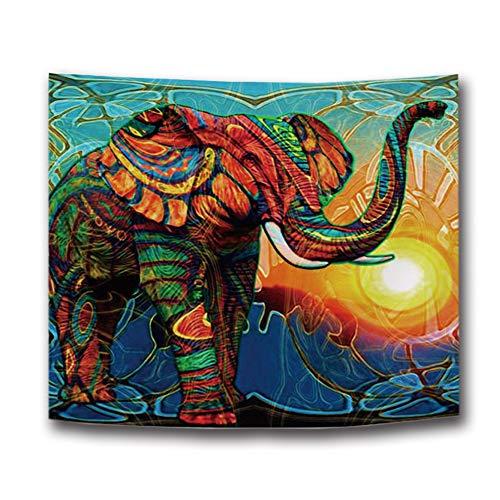 Hengjiang indiano etnico elefante africano da appendere alla parete ispessimento Tapestry Decor multifunzionale tovaglia da picnic Mat for home party hotel Beach 150x 135cm