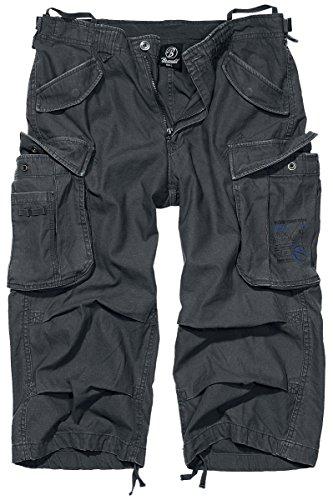 Brandit Uomo Industry Vintage 3/4 Pantaloncini Antracite Taglia S