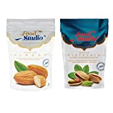 #10: Food Studio Combo of 2: Pack of 1 American Almonds (Regular Badam) & Pack of 1 Iranian Pistachios (Roasted and Salted Pista)