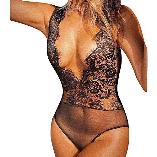 Zolimx donne mutande pezzo unico, donne lingerie corsetto pizzo ferretto filante mussola indumenti da notte biancheria intima tute