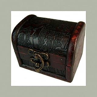 Ancient Wisdom K-Ancient Med Truhe, geprägt, ägyptisches Design, Kolonialstil