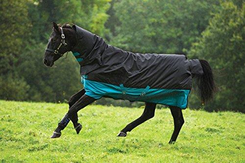 Horseware Mio Turnout Medium Pferdedecke 200Gramm, schwarz/türkis