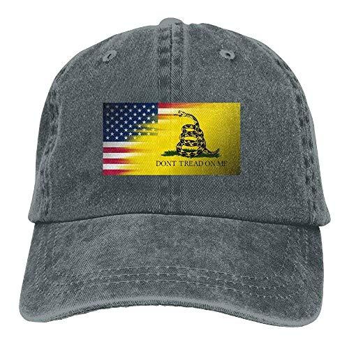 80c4f53348e Dont Tread On Me of American Flag Denim Hat Adjustable Mens Baseball Caps