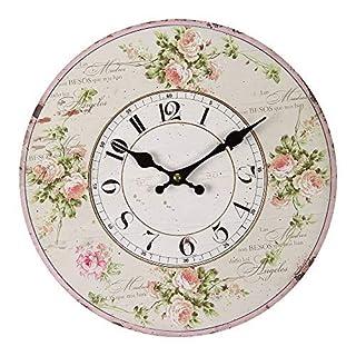 Vintage-Home Wall Clock Kitchen Watch Nostalgia Roses Watch Ø 28cm Antikuhr Shabby 84688