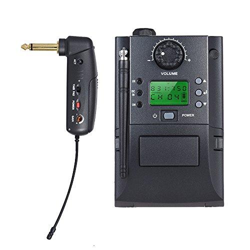 ammoon Sistema de Micrófono Inalámbrico Instrumento UHF Portátil co