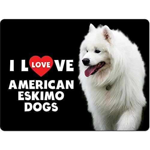 I love AMERICAN ESKIMO Hunde Premium 5mm dick Mauspad–Groß (200x 280mm)