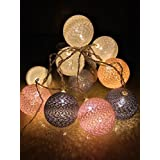 Cotton Ball-Light (Batteries Included)Decorative Fairy Lights 1.8m/6ft for Photography, Decorations, DIY, Christmas, Diwali, Decoration