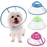 Schutzkragen Halskrause Haustierpflege Wunde dot Kragen für Hunde Katzen Pet Haustiere (M)