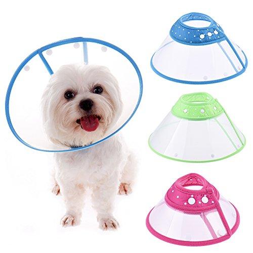 Schutzkragen Halskrause Haustierpflege Wunde dot Kragen für Hunde Katzen Pet Haustiere (S)