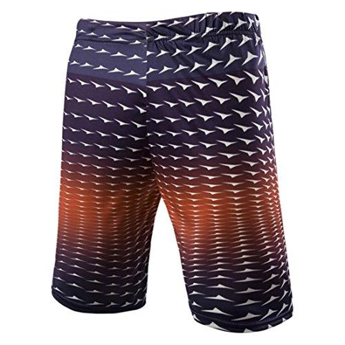 Men's Ramp Pattern Printted Shorts Chocolat